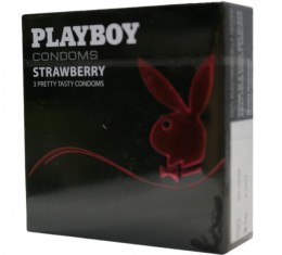 Playboy Strawberry - epres óvszer (3db)