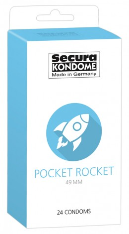 Secura Pocket Rocket - 49mm-es óvszerek (24db)