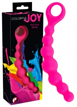 Colorful JOY - anál gyöngysor (pink)