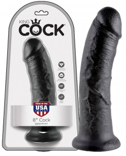 King Cock 8 dildó (20,3cm) - fekete