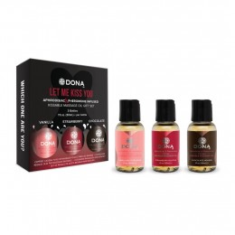 DONA Kissable - mini ízes masszázsolaj szett (3 x 30ml)